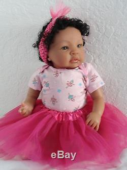 Reborn 19 African American/Ethnic/AA infant baby girl doll Shyanna