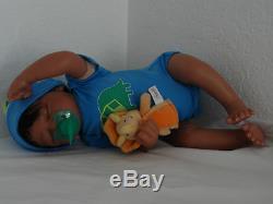 Reborn 19 African American Sleeping Newborn Baby Doll Marlo (Aisha)