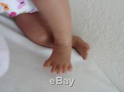 Reborn 19 African American Sleeping Newborn Baby Girl Doll Marlie (Aisha)