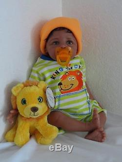 Reborn 21 African American/Ethnic/Biracial Baby Boy Doll Kobe (Eva Helland)