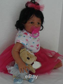 Reborn 21 African American/Ethnic/Biracial Baby Girl Doll Kyra (Eva Helland)
