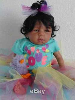 Reborn 21 Biracial/AA/African American/Ethnic Brea Newborn Baby Doll -Life Like