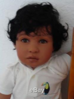 Reborn 22 African American/Ethnic/Biracial/Hispanic Toddler Boy Doll Aaron