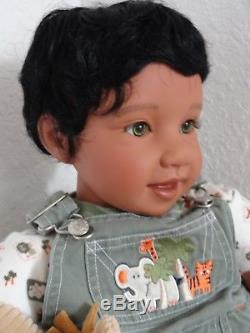 Reborn 22 African American/Ethnic/Biracial/Hispanic Toddler Boy Doll Jackson
