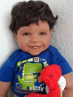 Reborn 22 African American/Ethnic/Biracial/Hispanic Toddler Boy Doll Mario