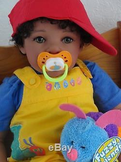 Reborn 22 African American/Ethnic/Biracial Toddler Boy Doll Tyrone