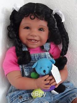 Reborn 22 African American/Ethnic/Hispanic Toddler girl doll Joy- Faith Club