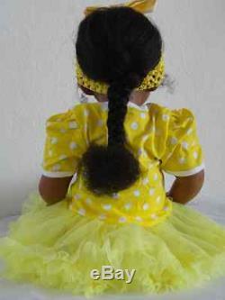 Reborn 22 African American/Ethnic Toddler Girl Doll Trinity