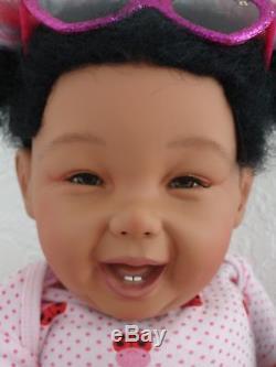 Reborn 22 African American/Girl Doll medium skin Marcella Lovebug10 days