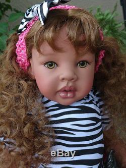 Reborn 22 Ethnic/Biracial/African American/Hispanic toddler girl doll Tiffany