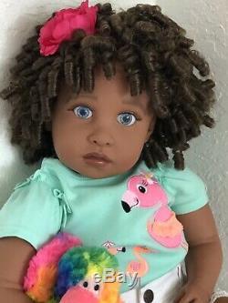 Reborn 22 Ethnic/Hispanic/Biracial/AA Girl Doll Dominica
