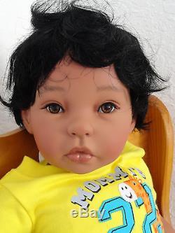 Reborn 22 Ethnic/Hispanic/Biracial/African American Toddler Boy doll Benni