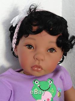 Reborn 22 Ethnic/Hispanic/Biracial/African American Toddler Girl doll Bella