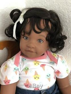 Reborn 22 Ethnic/Hispanic/Biracial/African American Toddler Girl doll Dannika