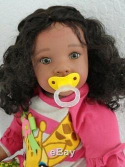 Reborn 22 Ethnic/Hispanic/Biracial/African American Toddler Girl doll Kenyata
