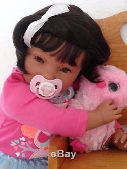 Reborn 22 Ethnic/Hispanic/Biracial/African American Toddler Girl doll Neveah
