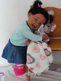 Reborn 22 Toddler Girl Doll Niyah- African American/Biracial/ethnic