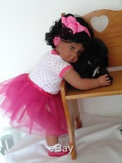 Reborn 22 Toddler Girl Doll Precious- African American/Biracial/ethnic