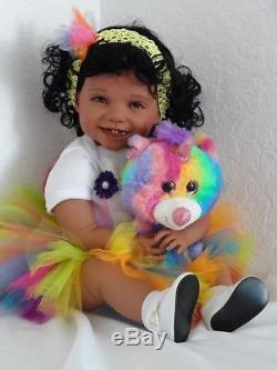 Reborn 22 Toddler Girl Doll Samantha- African American/Biracial/ethnic