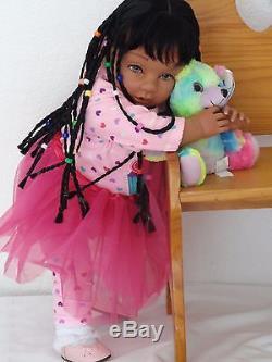 Reborn 22 ethnic/African American/biracial toddler girl doll Joslyn