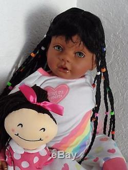 Reborn 22 ethnic/African American/biracial toddler girl doll Joslyn -PJ Party