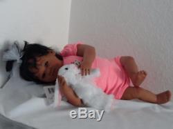 Reborn African American 19 Infant Baby Doll Honey