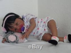 Reborn African American 21 Newborn Baby Girl Doll Kayla from Kyra sculpt