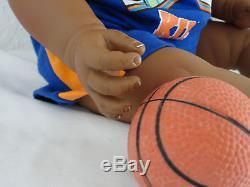 Reborn African American 22 Toddler Boy Doll Marquelle Basket ball theme