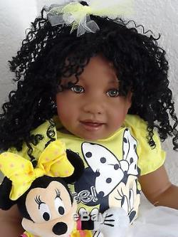 Reborn African American 22 Toddler Girl Doll Jubilee+ Minnie Mouse