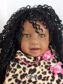 Reborn African American 22 Toddler Girl Doll Jubilee's Wild Side