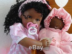 Reborn African American 22 Toddler Girl Doll Zuri-2-3 weeks