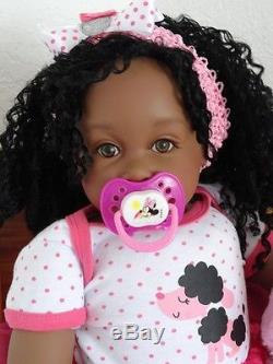 Reborn African American 22 Toddler Girl Doll Zuri and Princess-10 days