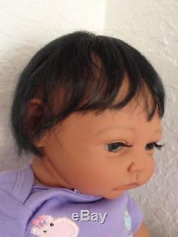 Reborn African American/Ethnic/Biracial 17 Preemie Baby Girl Doll Missy