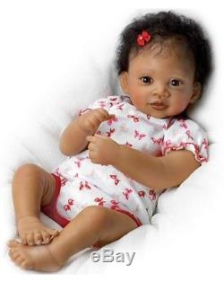 Reborn Baby African American 19 Inch Biracial Girl