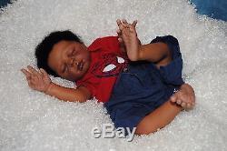 Reborn Baby Boy Doll African American Biracial Newborn Baby Doll