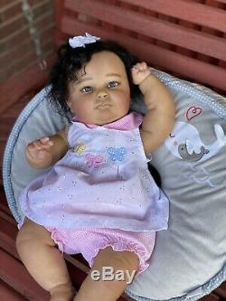 Reborn Baby Doll 3 Months Old AA Biracial