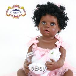 Reborn Baby Doll Black African American 22 Ethnic Biracial Toddler Full Vinyl
