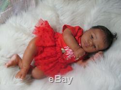 Reborn Baby Doll Ethnic Aa Biracial Girl