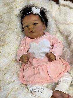 Reborn Baby Doll Lavender AA Biracial Skin Tone