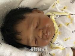 Reborn Baby Doll LaylaAA, African American, Ethnic Reborn, Ready To Ship