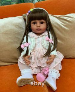 Reborn Baby Dolls Silicone Full Body Black Girls Reborn African American Dolls
