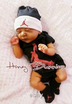 Reborn Baby Ethnic Biracial Aa Chase Kit Bonnie Brown Doll New Coa Jordan