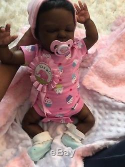 Reborn Baby Girl African American Babydoll
