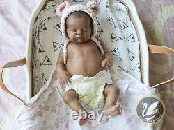 Reborn Baby Girl Doll AA Ethnic Evie By LLE