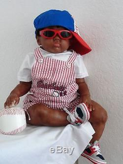 Reborn Big Chubby African American 27 Toddler Boy Doll ChristopherCuddles