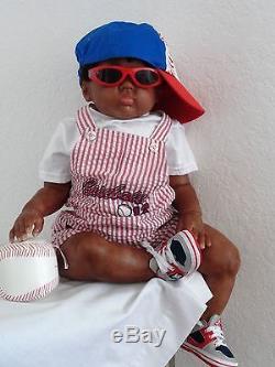 Reborn Big Chubby African American 27 Toddler Boy Doll ChristopherCuddles