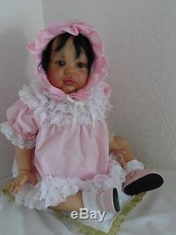 Reborn Biracial/Hispanic/African American 20 Baby Girl Doll w. Full limbs ex