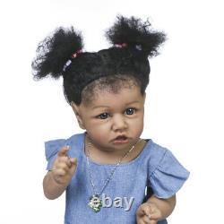 Reborn Dolls, 22'' African American Reborn Baby Doll Silicone Full Body Black