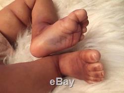Reborn Dominic African American Bi-racial Realistic Baby Doll
