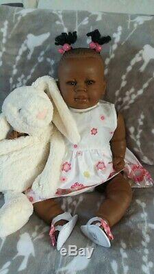 Reborn Ethnic Biracial African American Black Baby Doll